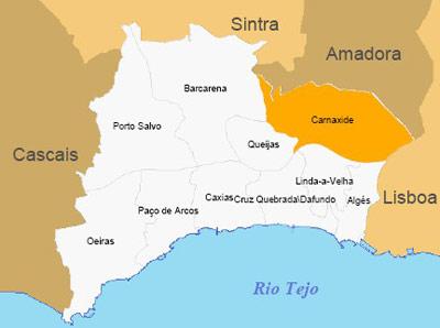 mapa concelho de oeiras Carnaxide Digital :: Mapas de Carnaxide mapa concelho de oeiras
